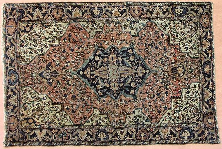 This fine old Ferahan Sarouk dates to the early 19th Century. Acquired from an estate, it shows even wear and is in superb condition